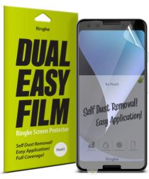 Ringke DualEasy Anti-Stof Screen Protector Google Pixel 3 [2-Pack]