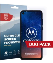 Rosso Motorola One Vision Ultra Clear Screen Protector Duo Pack