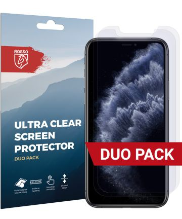 Rosso Apple iPhone 11 Pro Ultra Clear Screen Protector Duo Pack Screen Protectors