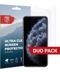 Rosso Apple iPhone 11 Pro Max Ultra Clear Screen Protector Duo Pack