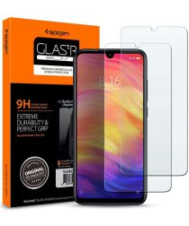 Spigen Xiaomi Redmi Note 7 Tempered Glass Screen Protector 2-Pack