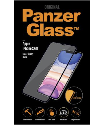 PanzerGlass Apple iPhone 11 / XR Case Friendly Screenprotector Zwart