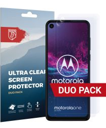 Rosso Motorola One Action Ultra Clear Screen Protector Duo Pack
