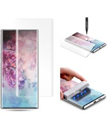 Galaxy Note 10 Plus Tempered Glass [UV lichtbestraling]