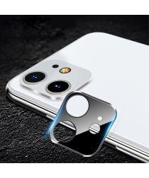 Apple iPhone 11 Camera Lens Metal Ring met Tempered Glass Zwart