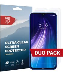 Rosso Xiaomi Redmi Note 8 Ultra Clear Screen Protector Duo Pack
