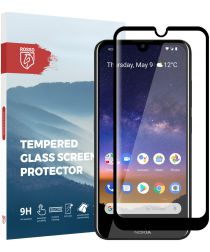 Rosso Nokia 2.2 9H Tempered Glass Screen Protector Zwart