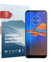 Rosso Motorola Moto E6 Plus 9H Tempered Glass Screen Protector Zwart