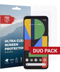 Rosso Google Pixel 4 Ultra Clear Screen Protector Duo Pack