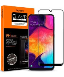 Spigen GLAS.tR Slim Samsung Galaxy A50 Full Cover Tempered Glass Zwart