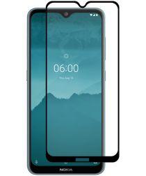 Nokia 6.2 Full Glue 9H Arc Edge Tempered Glass Screenprotector Zwart
