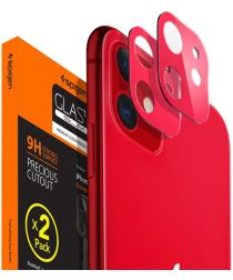 Spigen iPhone 11 Camera Lens Tempered Glass 2-Pack Rood