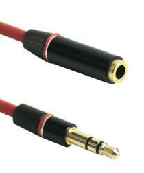 3.5mm Male naar Female Stereo Sound Audio Verlengkabel 1.3 Meter