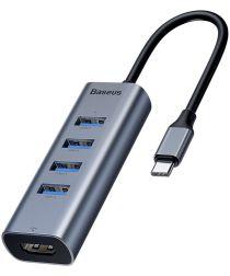 Baseus USB-C USB / HDMI Hub 5 Poorten voor Macbook Grijs