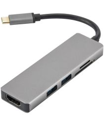 Universele 5-in-1 USB-C Adapter (Micro)SD / USB HDFMI Grijs