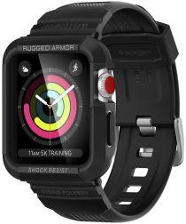 Spigen Rugged Armor Pro Apple Watch 42MM Hoesje en Bandje Zwart