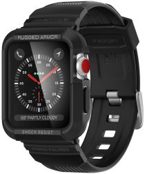 Spigen Rugged Armor Pro Case Apple Watch 1/2/3 38mm Zwart