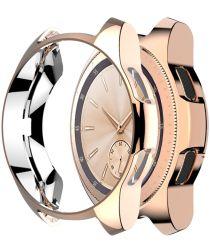 Samsung Galaxy Watch Hoesje Full Protect TPU 42MM Roze Goud