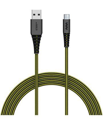 SoSkild Ultimate Protection USB-A naar USB-C Kabel 1.5m Zwart/Geel