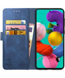 Rosso Element Samsung Galaxy A71 Hoesje Book Cover Blauw
