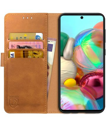 Rosso Element Samsung Galaxy A51 Hoesje Book Cover Lichtbruin