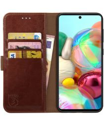 Rosso Element Samsung Galaxy A51 Hoesje Book Cover Bruin