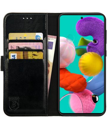 Rosso Element Samsung Galaxy A71 Hoesje Book Cover Zwart
