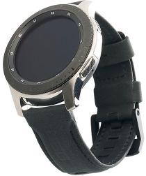 Urban Armor Gear Leather Universeel Smartwatch 22MM Bandje Zwart