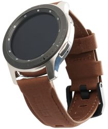 Urban Armor Gear Leather Universeel Smartwatch 20MM Bandje Bruin
