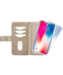Mobilize Gelly Wallet Zipper Apple iPhone XS / X Hoesje Latte