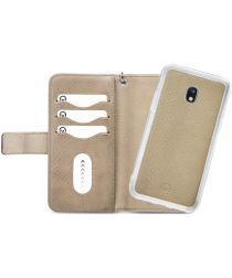 Mobilize Gelly Wallet Zipper Samsung Galaxy J3 (2017) Hoesje Latte
