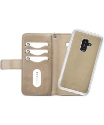 Mobilize Gelly Wallet Zipper Galaxy A6 Plus (2018) Hoesje Latte