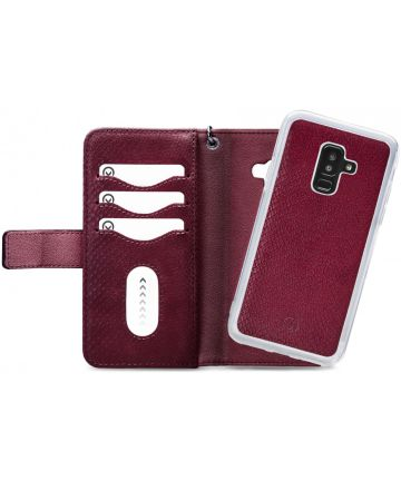 Mobilize Gelly Wallet Zipper Galaxy A6 Plus (2018) Hoesje Bordeaux