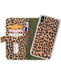 Mobilize Gelly Wallet Zipper Apple iPhone XS / X Hoesje Olive Leopard