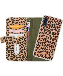 Mobilize Gelly Wallet Zipper Samsung Galaxy A50 Hoesje Olive Leopard
