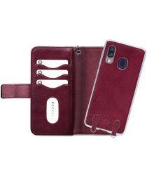 Mobilize Gelly Wallet Zipper Samsung Galaxy A40 Hoesje Bordeaux