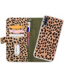 Mobilize Gelly Wallet Zipper Samsung Galaxy A70 Hoesje Olive Leopard