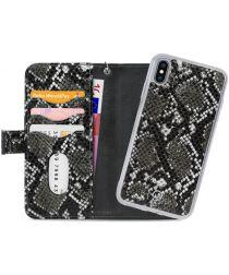 Mobilize Gelly Wallet Zipper Apple iPhone XS / X Hoesje Black Snake
