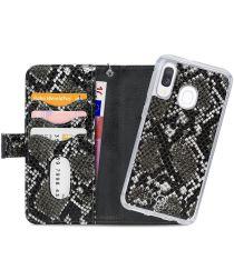 Mobilize Gelly Wallet Zipper Samsung Galaxy A20E Hoesje Black Snake