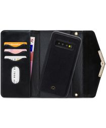Mobilize Velvet Clutch Samsung Galaxy S10 Hoesje Deep Black