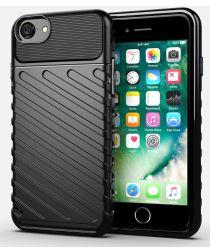 Apple iPhone SE 2020 Twill Texture Hoesje Zwart