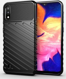 Samsung Galaxy A10 / M10 Twill Thunder Texture Back Cover Zwart