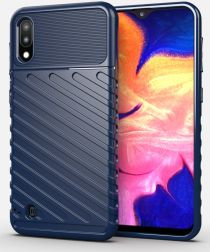 Samsung Galaxy A10 / M10 Thunder Slim Texture Back Cover Blauw