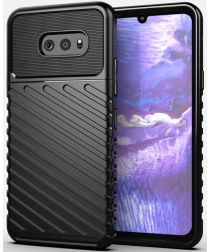 LG G8X ThinQ Twill Thunder Texture Back Cover Zwart