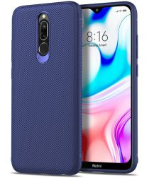 Xiaomi Redmi 8 Twill Slim Texture Back Cover Donkerblauw