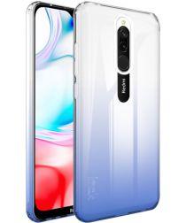 IMAK UX-6 Series Xiaomi Redmi 8 Hoesje TPU Transparant/Blauw