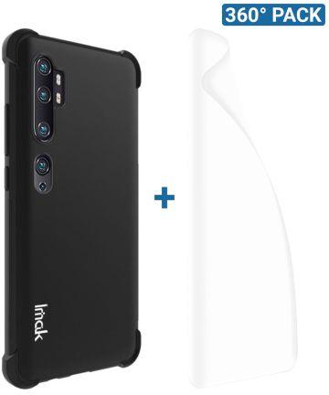 IMAK Xiaomi Mi Note 10 Pro Hoesje TPU met Screenprotector Metaal Zwart