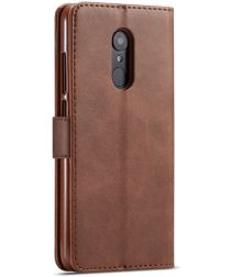 Xiaomi Redmi 8 PU Lederen Portemonnee Bookcase Hoesje Coffee