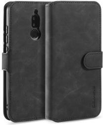 DG Ming Retro Portemonnee Xiaomi Redmi 8 Hoesje Zwart