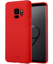 HappyCase Samsung Galaxy S9 Siliconen Back Cover Hoesje Rood